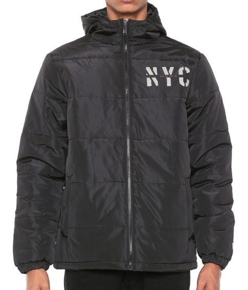 Jaqueta New Era Puffer Cities Nyc Preta