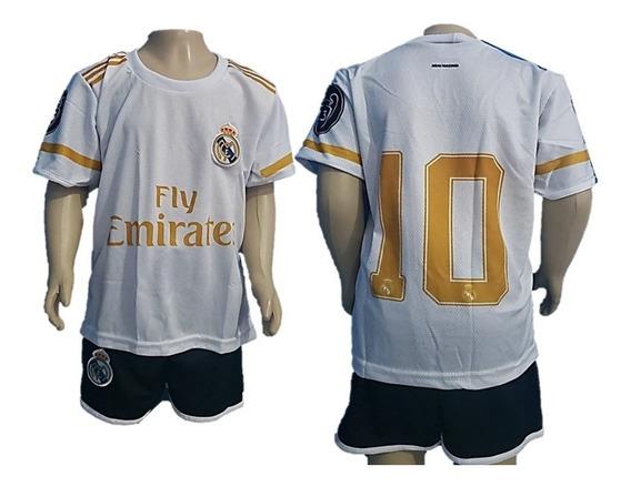 Novo Short E Camisa Real Madrid Conjunto Uniforme Infantil