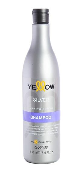 Shampoo Yellow Silver Para Pelo Rubios Grises Mechas Blancos