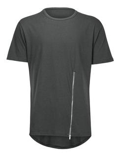 Camisetas Masculinas De Algodão De Manga Curta Lado De Arco
