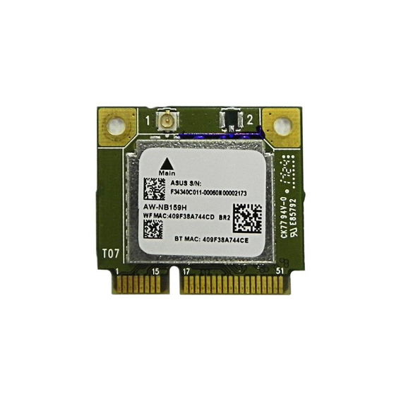 Placa Wireless/bluetooth Azure Wave - Aw-nb159h-v01 - Nova