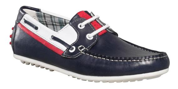 Zapato Mocasin Cuero Hombre Dunlop Naùtico Boat 2709
