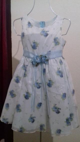Vestido De Fiesta Con Estampado De Flores Para Niña