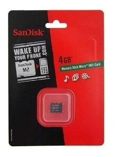 Cartão De Memória Stick Pro Duo 4gb Para Câmera Sony