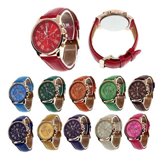 Kit 8 Relógios Feminino Geneva Platinum Frete