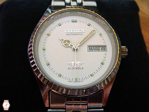 Reloj Citizen Automático Vintage Dial Blanco.