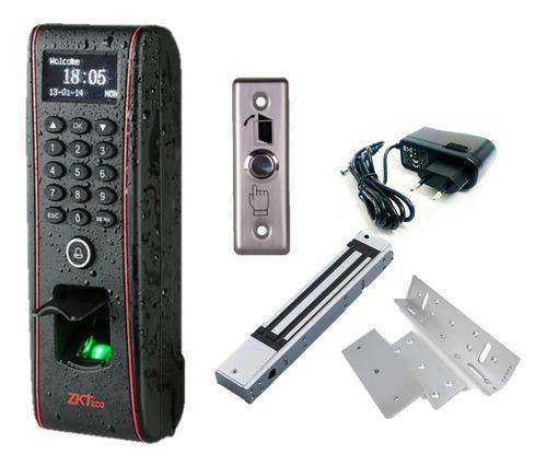 Imagen 1 de 10 de Combo Control Acceso Biométrico Tf1700 Zkteco Apto Exterior
