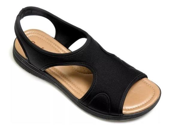 Sandália Papete Confort Fléx Tipo Ortopédica 1851405 Lycra