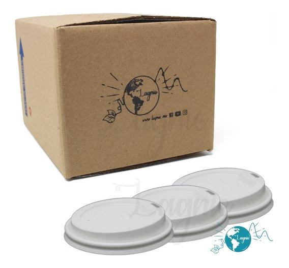 50 Tapas Para Vasos Biodegradables Pla Desechable 10-12-16oz