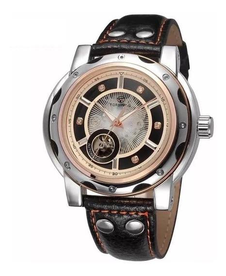 Reloj Hombre Forsining Original Cuerda Skeleton Transparente