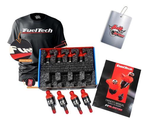 4 Bicos Injetor  Fueltech 520lbs Injetor De Alta Vazão