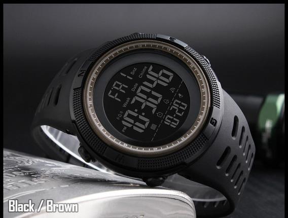 Relógio Luz Negra De Luxo Militar Sport Eletrônico Digital