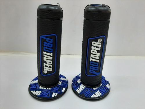 Puño De Manillar Pro Taper Negro Con Azul