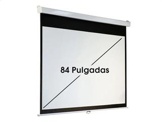 Pantalla Proyector Manual Retractil Pared Techo Escuela Casa
