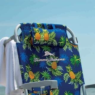 Silla De Playa Portátil Tommy Bahama Disponible Azul Piñas