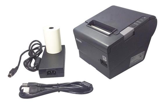 Impressora Térmica Epson Tm-t88v Usb Cupom Qr Code Guilhotina Abre Gaveta