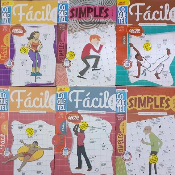 Kit Palavras Cruzadas Nível Fácil Coquetel / 12 Volumes.
