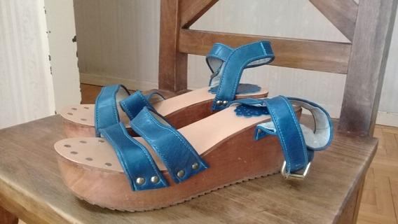 Sandalias Azules Nazaria N°38