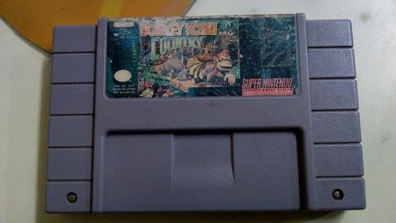 Fita Donkey Kong 1 Country Original Salvando Snes Nintendo