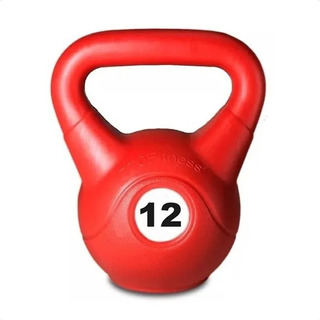 Pesa Rusa Kettlebell 12 Kilos Pvc Fitness Ejercicio