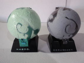 Star Wars Applause Lote 2 Planetas Diorama Naboo Coruscant