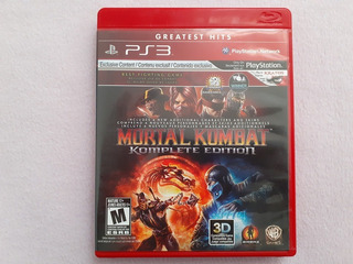 Mortal Kombat Komplete Edition Greatest Hits Para Ps3
