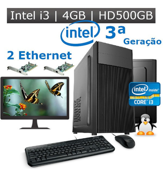 Desktop I3 3ª Geração 4gb Hd 500gb + 2 Ethernet Kit Monitor
