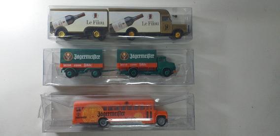 2 Caminhões 1 Ônibus Novos Importados França Escala Ho