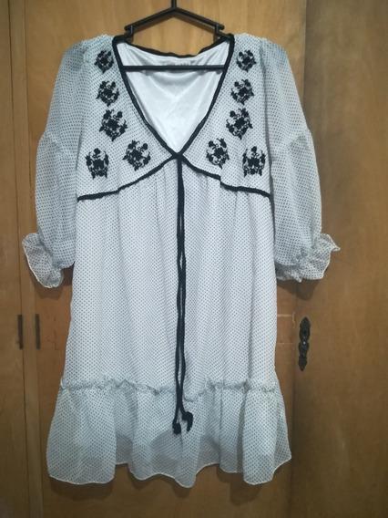 Vestido Remera De Gasa