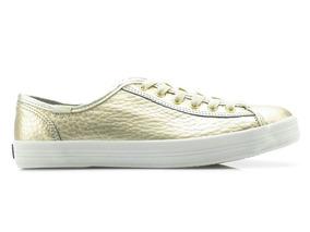 Tênis Keds Kickstart Shine Leather Ouro Kd824411