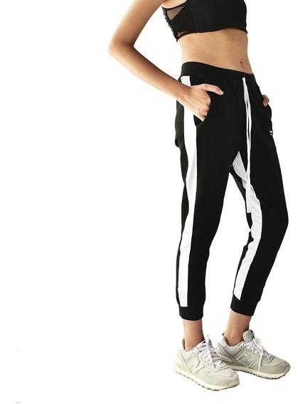 Calça Brohood Moletom Jogger Skinny Feminina Preta