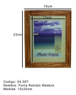 Porta Retrato Marco Madera