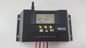 Controlador De Carga Para Painel Solar 40a 12 E 24v Pwm