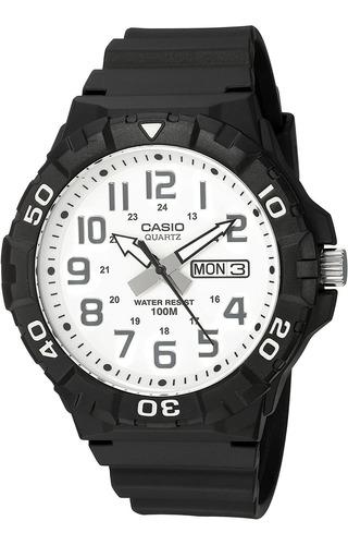 Imagen 1 de 4 de Reloj Analógico Casio Mrw-210h-7avcf, Resina, 44.6mm, Negro