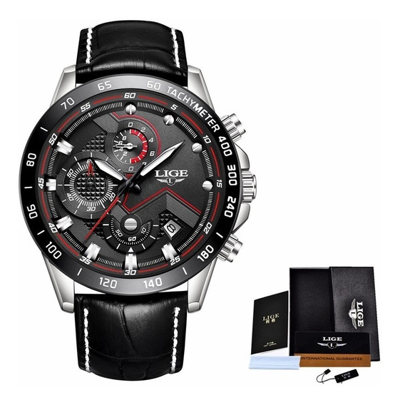 Relógio Masculino Lige Barato Luxo Modelo 9874