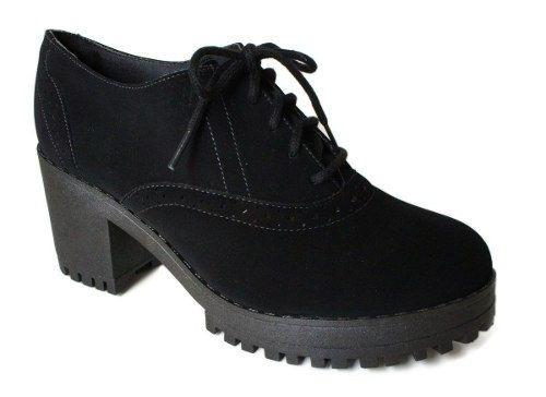Sapato Bebece Oxford Salto Tratorado7,5cm- 5614429 Ptonobuck