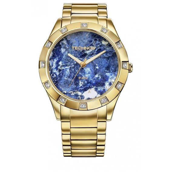Relógio Feminino Technos Stone Sodalita Aço Inoxidável