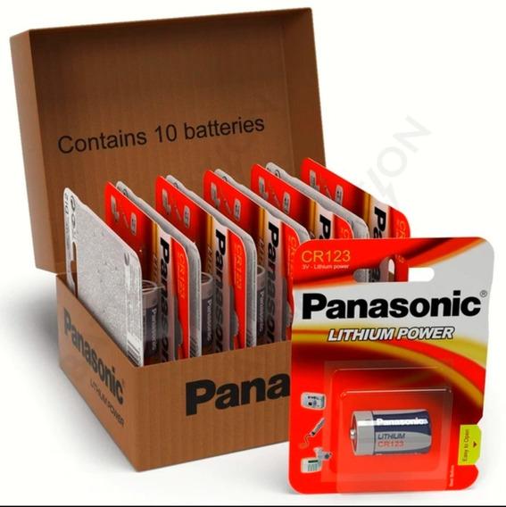 Bateria Pilha 3v Cr123a Photo Lacrado Panasonic | 10 Pack
