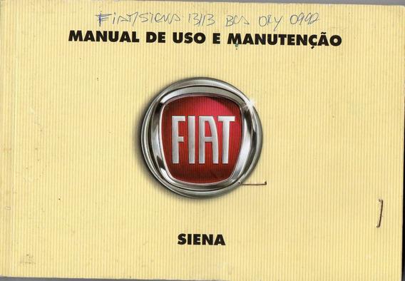 Manual Proprietário Grand Siena 2011 12 Kit Comp.frete Gráts