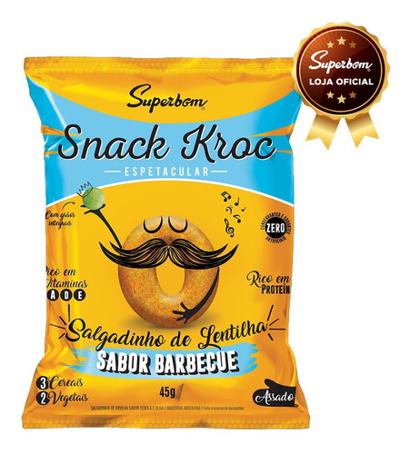 Snack Kroc Sabor Barbecue 45g - Superbom