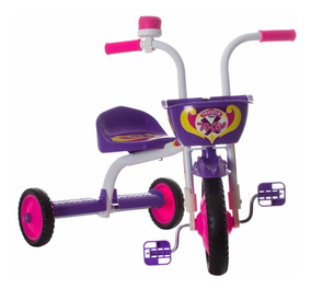Triciclo Mini Bicicleta Infantil Menina Ultra Bike Roxa