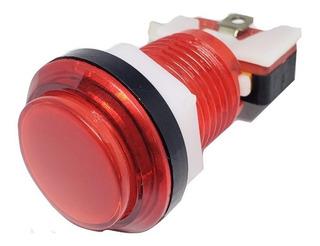 Boton Pulsador Arcade Led Generico 24mm Luz (elegir Color)