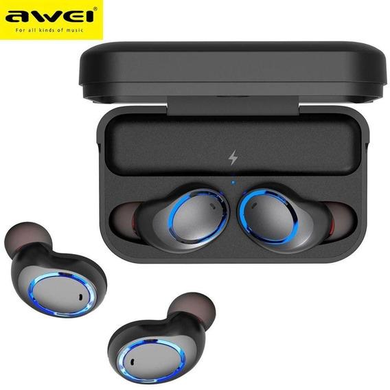 Fone De Ouvido Bluetooth Awei Tws T3 Ipx4 + Óculos Vr Box
