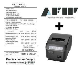 Impresora Ticket + Sistema Ticket Factura Electronica Afip
