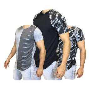 Kit 3 Camisas Varias Camufladas + Destroyed Escaping + Frete