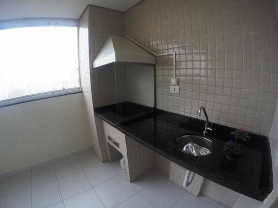 Apartamento Com 3 Dorm. E Varanda Gourmet Para Alugar, 101 M² Por R$ 1.800/mês - Rudge Ramos - São Bernardo Do Campo/sp - Ap0394