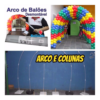 Arco Desmontavel 01+02 Base Plastica Decoração Balões+brinde