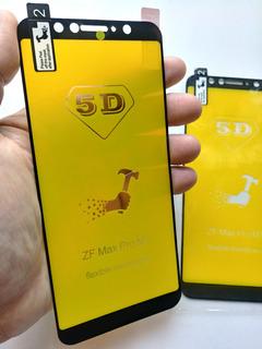 2 Películas 5d Gel Asus Zenfone Max Pro M1 Zb601kl Zb602kl