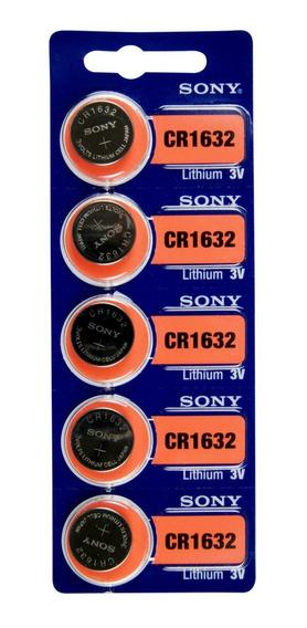 05 Unidades Bateria Cr1632 Sony Originais 1ª Linha!