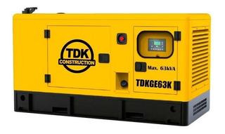 Generador De Cabina 80 Hp Tdk Tdkge63k Envío Gratis